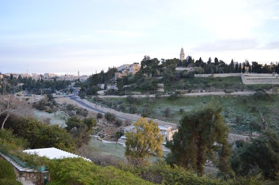 Mount Zion Hotel:                   View of Old City and Mount Zion from hotel