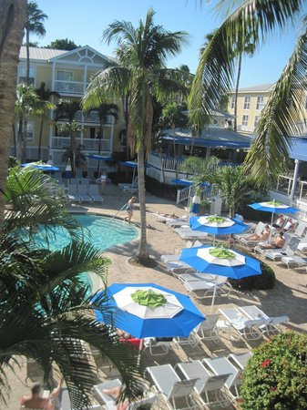 Sheraton Suites Key West:                   Pool from our balcony.