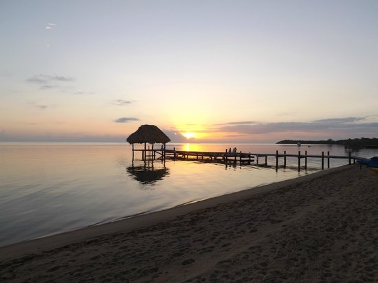 Jaguar Reef Lodge and Spa:                   Watching the sunrise