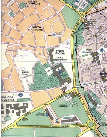 Albergaria do Calvario: Location map