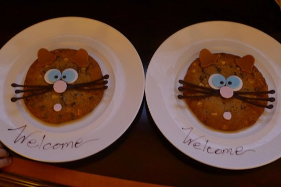 Fairmont Grand Del Mar: welcome cookies for the boys