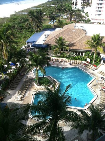 Hilton Marco Island Beach Resort:                   View of pool from room