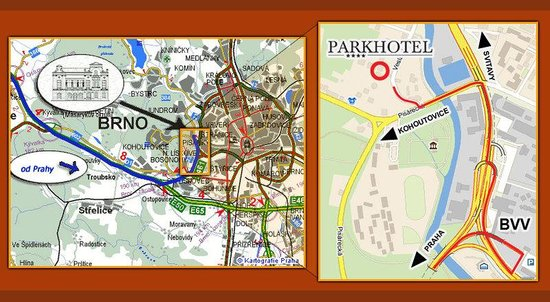 Map of Parkhotel Brno