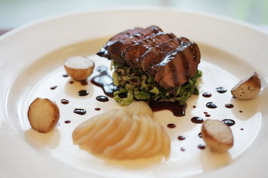 Southernhay House Hotel: Classic Venison with poached pear