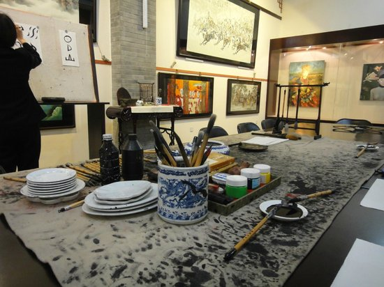 Calligraphy practice picture of tangbo art museum xi an
