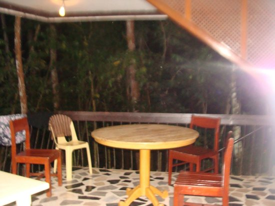Eden Nature Park: patio w/ tables & chairs