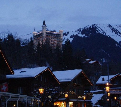 Gstaad Palace Hotel: Hotel viewed from village