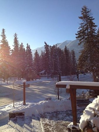 Banff Aspen Lodge:                   view from our room