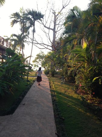 Moon Dance Villas:                   Walkway to the beach