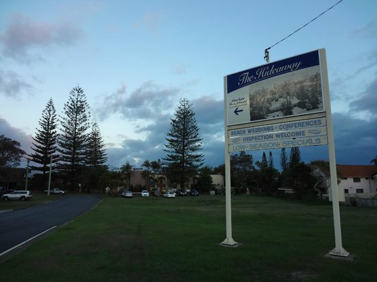 Bogangar, Australia:                   Beach Motel - park your car on the vacant lot
