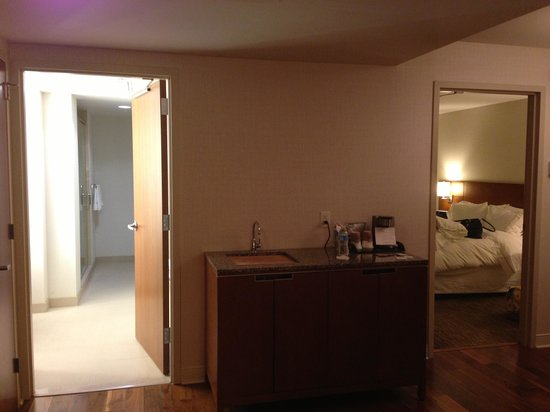 The Westin Minneapolis:                   Wet bar, bathroom and bedroom