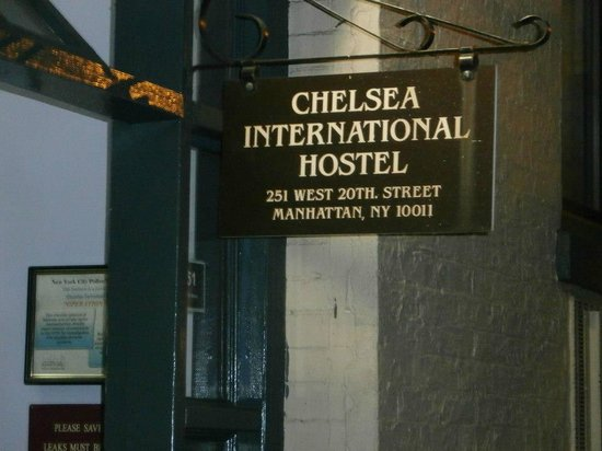 Chelsea International Hostel:                   Front of hostel