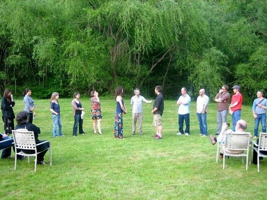 Shandaken, NY:                   rehearsing for our wedding the day before