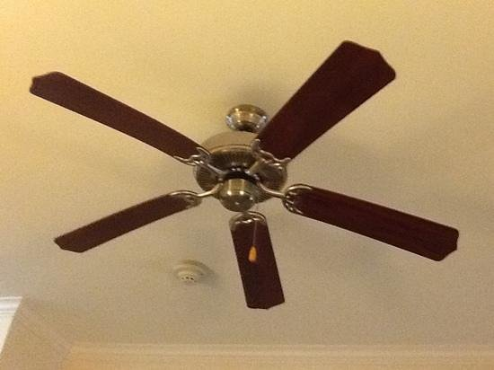 Holiday Inn Express Lufkin South: Ceiling fan in a hotel!
