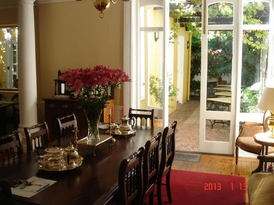 Tintagel Guesthouse:                   Dining room
