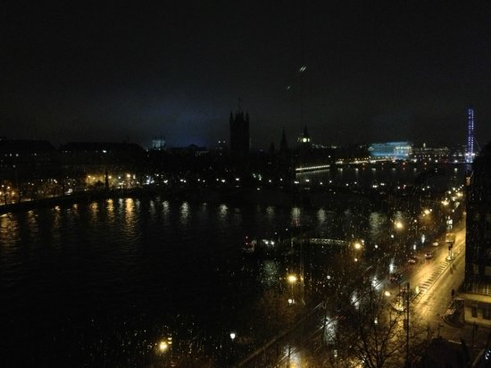 Park Plaza Riverbank London:                   view by night