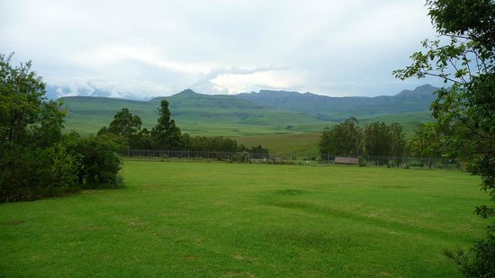 uKhahlamba-Drakensberg Park, :                   View from room 7 to the Amphitheater
