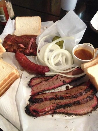 Taylor, TX: Brisket, sausage and baby back ribs from Louie Mueller&#39;s