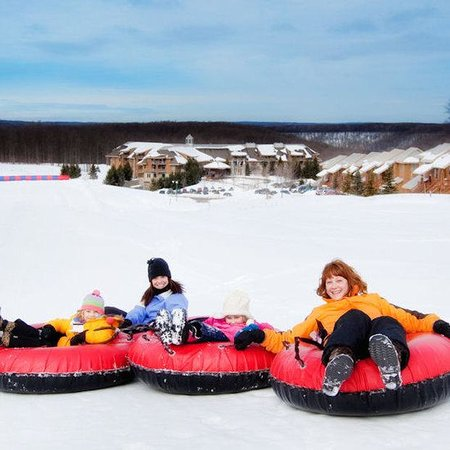 Bellaire, MI: Tubing At Cedar River