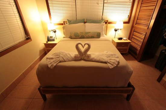 Belizean Shores Resort: Bed Swans