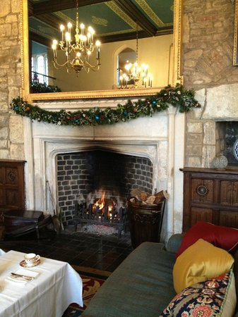Ellenborough Park:                                     the hearth in the sitting room