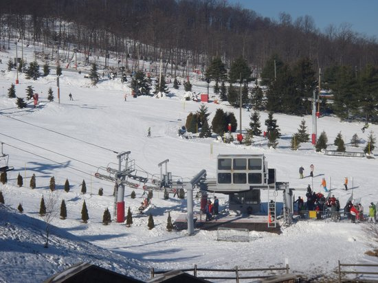 Bear Creek Mountain Resort:                                     Our Slopeside View!