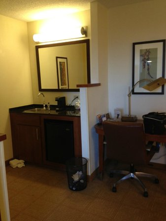 Hyatt Place Busch Gardens: desk &amp; wetbar area