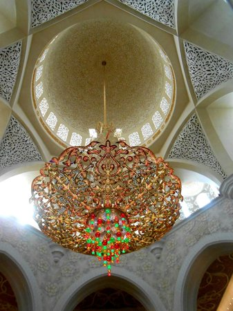 Sheikh Zayed Grand Mosque: the chandelier