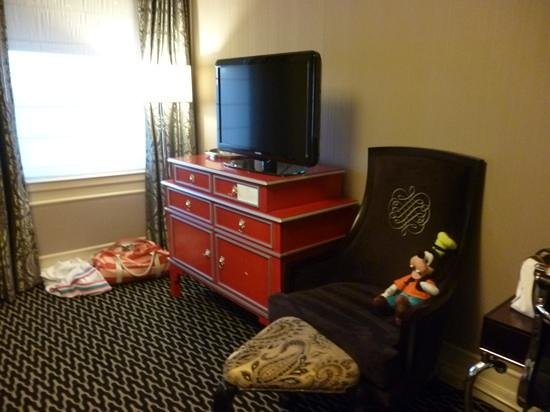 Sir Francis Drake Hotel - a Kimpton Hotel:                   two queen deluxe tv area