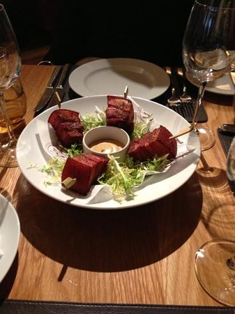 Bar Boulud:                   delicious belly pork