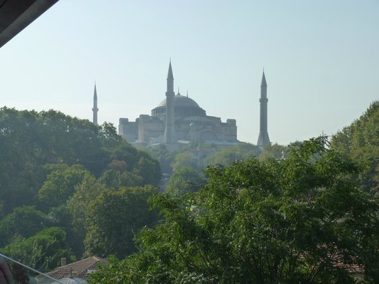 Yasmak Sultan Hotel:                   Hagia Sophia from the Olive Restaurant terrace