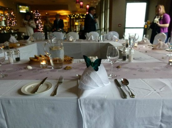 Harbour Hotel Galway:                                     Beautifully decorated tables