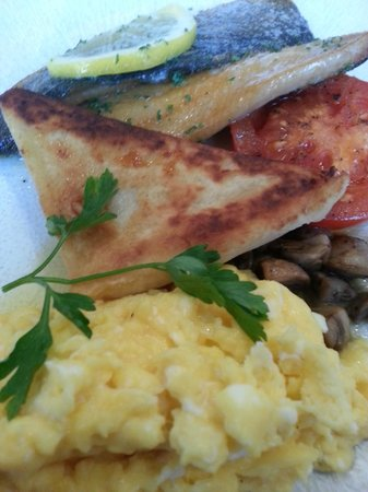 MacNean Restaurant: Scrambled Eggs and Smoked Kipper with Lemon Butter.