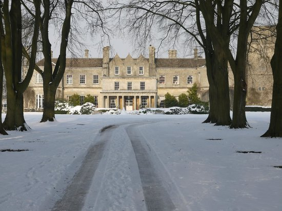 Colerne, UK:                   Lucknam Park in the snow