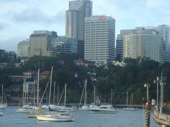 North Sydney, Australia: Harbourview on the right