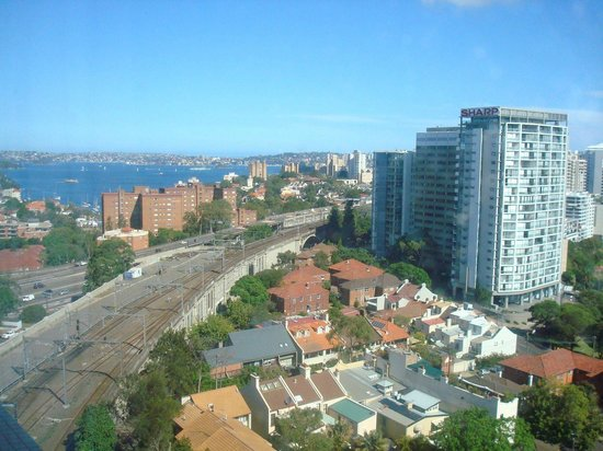 North Sydney, Australia: View of the train line