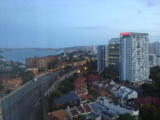 North Sydney, Australia: View from our room at dusk