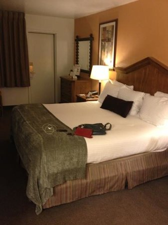 Canyon Plaza Resort: king bed!