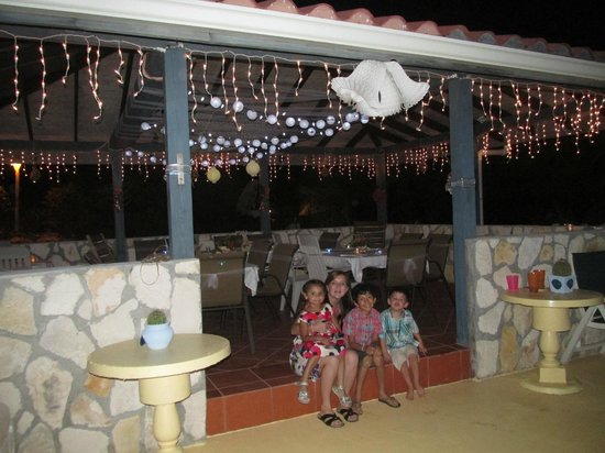 Harbour Club Villas & Marina:                                     The bbq/eating area decorated for our wedding reception.