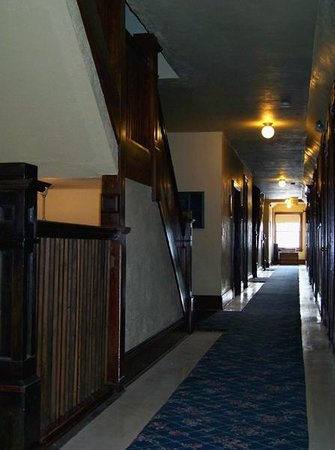 The Historic Union Hotel:                   Second floor hallway at The Union Hotel