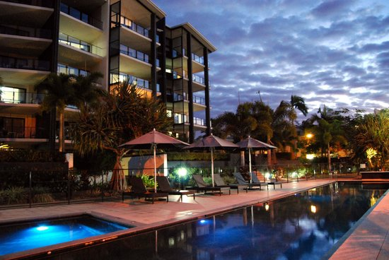 The Bay Apartments:                                     Pool area