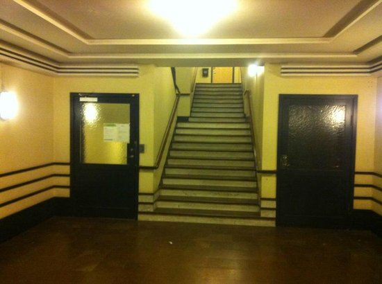 Hotel Centric: Stairs to the hotel if the lift is not available.