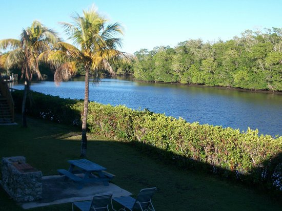 River Wilderness Waterfront Villas, Everglades:                   BBQ and view