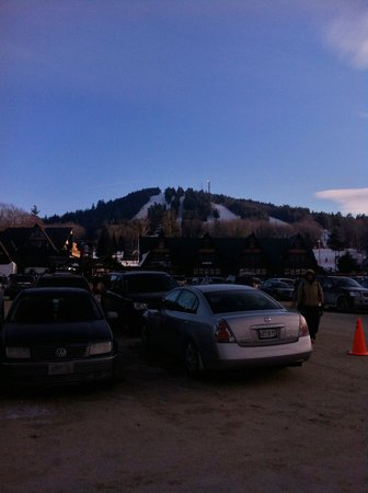 Pats Peak:                   View from the parking lot