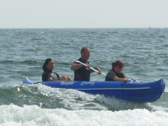 Beadnell, UK:                   Three men in a boat!