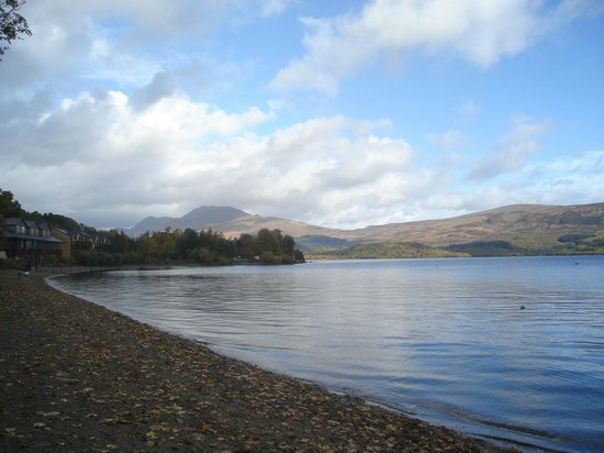 Lodge on Loch Lomond:                   shore side walk