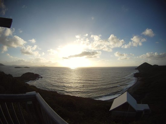 Concordia Eco-Tents:                                     gopro wide angle  view from deck at sunrise