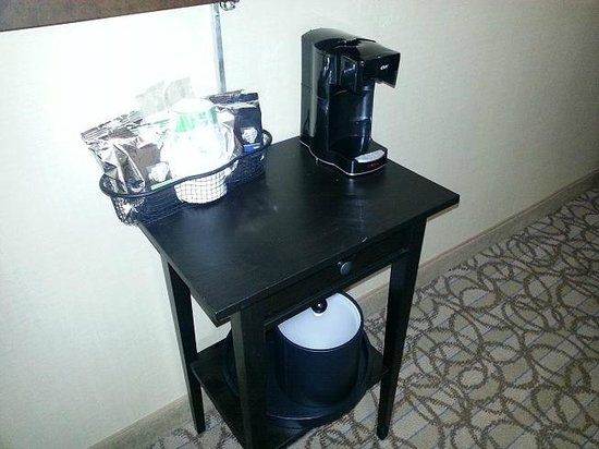 Hampton Inn New York Seaport / Financial District:                   Coffee/Tea setup