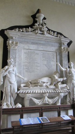 Worcestershire, UK: Tomb of John Lord Coventry, St Magdaline Church, Croome