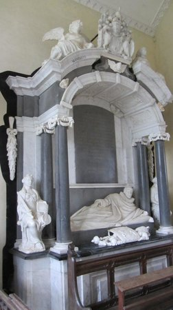 Worcestershire, UK: Tomb of Thomas, 1st Baron Coventry, St Magdaline Church, Croome